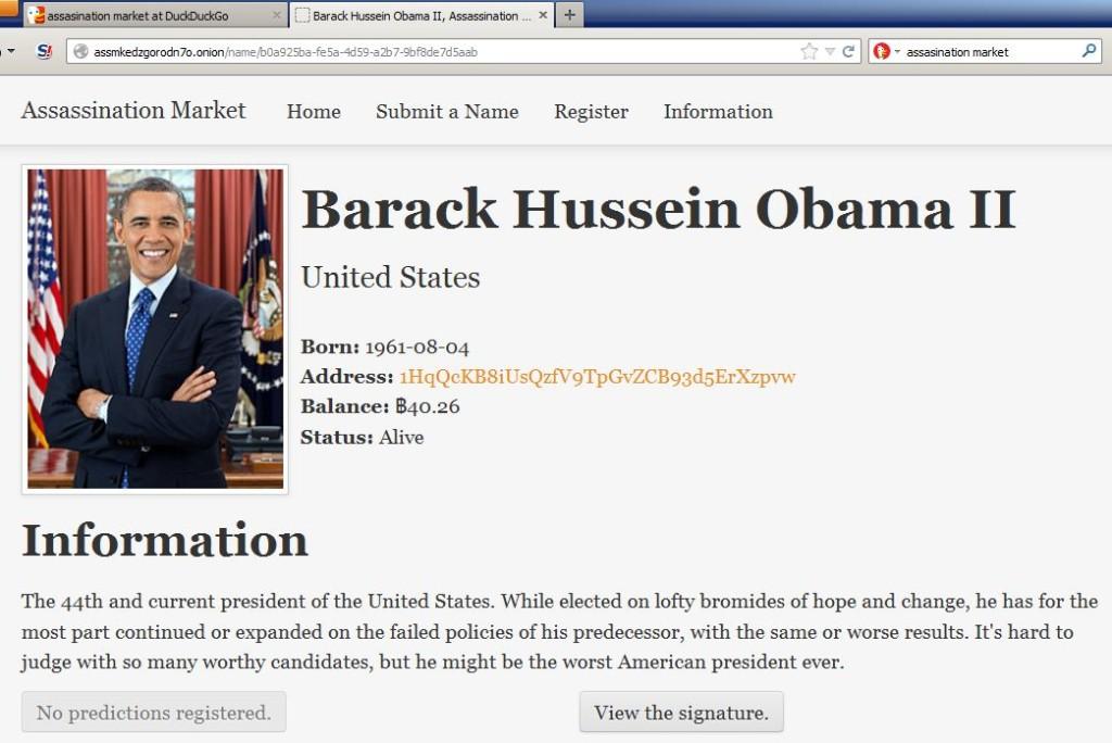 Krótki opis po kliknięciu na Obamę w Assasins Market