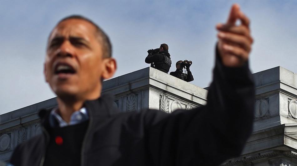 Ludzie zrzucają się na Obamę