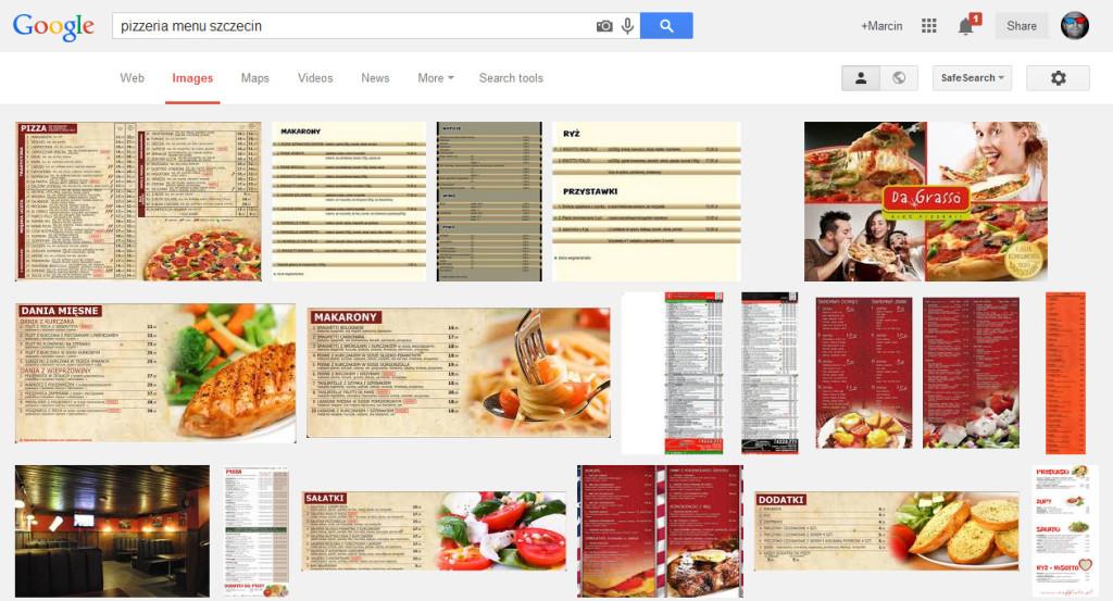Pizzeria menu szczecin - pokazuje nam menu poszczególnych pizzerii