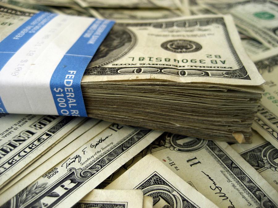 Spałem na pieniądzach
