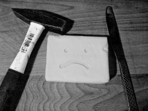 smutne zimne masło