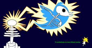 Ptaszek Twittera porażony prądem