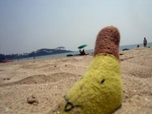 banan w piasku