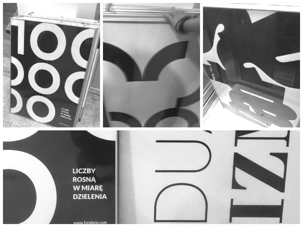 kolaż plakatu typografii