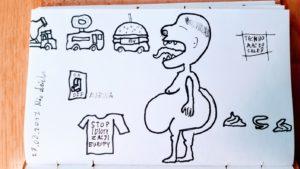 Targ rozmaitości w OffMarina i wyrzuty sumienia, bo zeżarłem wielkiego burgera, chociaż jestem na diecie.