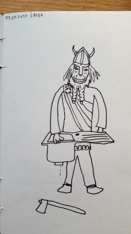 Stolarz o ksywce Viking (tak go mam zapisanego w telefonie), montował u nas zlew.