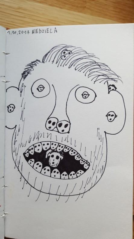Miesiąc się skończył i zacząłem rysować różne swoje pomysły. Raz to szło lepiej, raz gorzej.