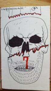 Można sobie porównać tę czaszkę z rysunkiem zrobionym kilkanaście dni wcześniej. Różnica jest ogromna.